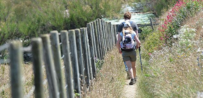 Walking on the coastal path