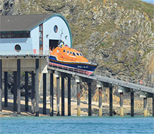 Padstow Lifeboat launching