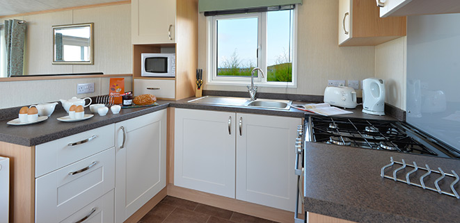 Diamond Caravan Kitchen Area