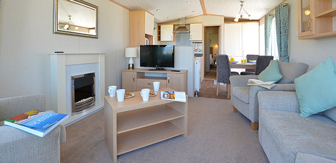 Diamond Caravan Living Area
