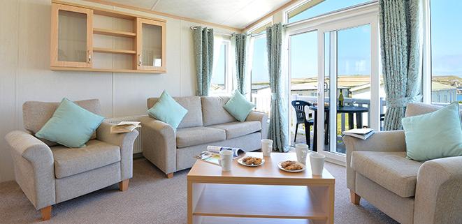 Diamond Caravan Living Area