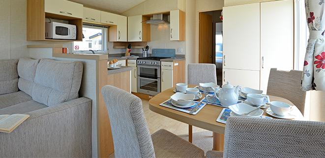 Gold Caravan Living Area