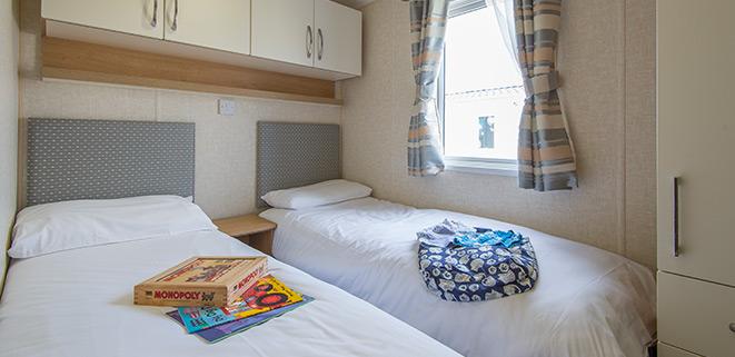 Gold Caravan Second Bedroom