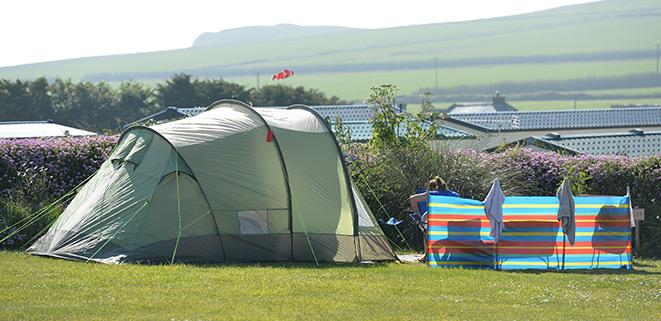 Camping at Mother Ivey\\\'s Bay