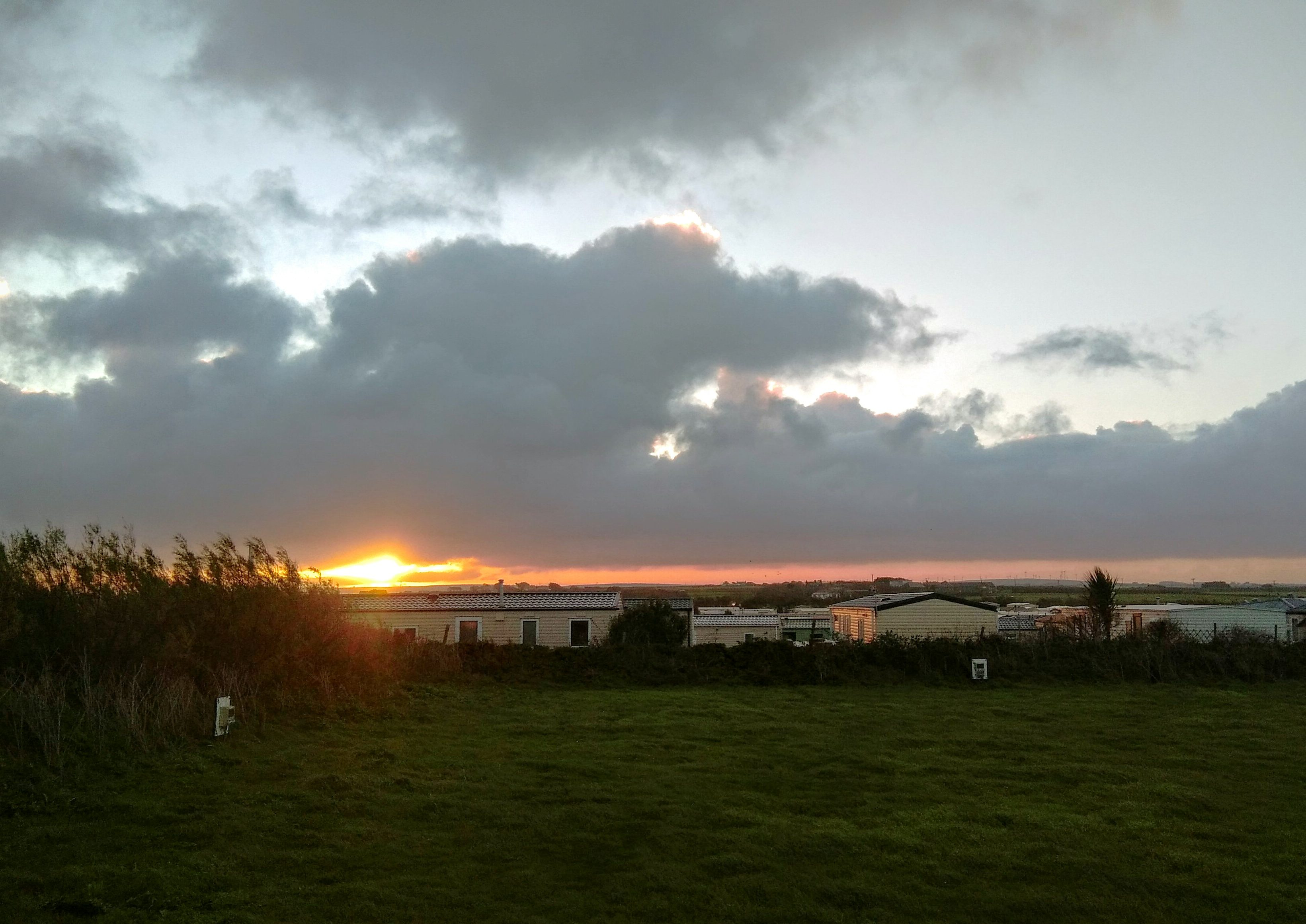 Picture of sunrise over Mother Ivey's Bay Holiday park