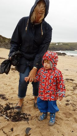 Picture of a young volunteer at the Mother Iveys Bay Beachwatch