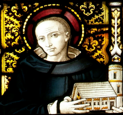 Image of a representation of St Piran