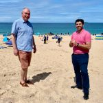 Scott Mann and Patrick Langmaid on Mother Ivey's Bay beach